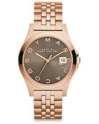 Marc by Marc Jacobs Henry Slim Rose Goldtone Stainless Steel Bracelet Watchdirty Martini