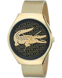 Lacoste 2000873 Valencia Gold Tone Stainless Steel Watch