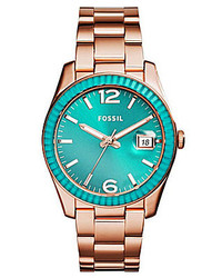 Fossil Ladies Perfect Boyfriend Rose Gold Stainless Steel Watch
