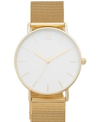 Topshop Look Mesh Strap Watch 40mm