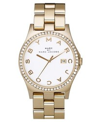 Marc by Marc Jacobs Henry Stainless Steel Watch Gold Crystal