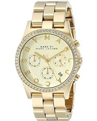 Marc by Marc Jacobs Mbm3105 Henry Gold Tone Stainless Steel Bracelet Watch