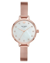 kate spade new york Metro Mesh Bracelet Watch
