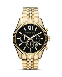 Michael Kors Michl Kors Gold Tone Lexington Chronograph Watch 45mm