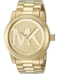 Michael Kors Michl Kors Mk5473 Runway Gold Tone Stainless Steel Watch