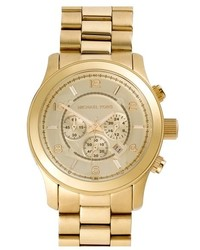 MICHAEL Michael Kors Michl Kors Large Runway Chronograph Bracelet Watch 45mm