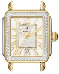 Michele Deco Madison Diamond Dial Watch Case 33mm X 35mm