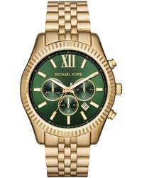 Michael Kors Michl Kors 44mm Lexington Bracelet Watch Goldengreen