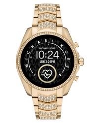 Michael Kors Access Michl Kors Gen 5 Bradshaw Pave Crystal Bracelet Smartwatch