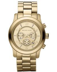 Michael Kors Michl Kors Golden Oversized Runway Watch