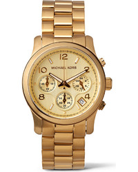 Michael Kors Michl Kors Mk5055 Runway Gold Plated Stainless Steel Watch