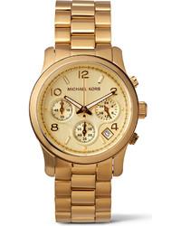 Michael Kors Michl Kors Mk5055 Runway Gold Plated Stainless Steel Watch