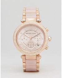 Michael Kors Michl Kors Mk5896 Parker Chronograph Bracelet Watch In Rose Gold
