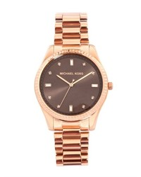 Michael Kors Michl Kors Watches Felicity Rose Gold Plated Watch