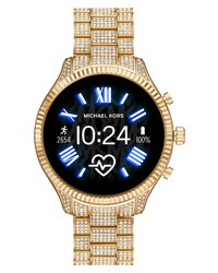 Michael Kors Access Michl Michl Kors Lexington 2 Pave Crystal Bracelet Smart Watch