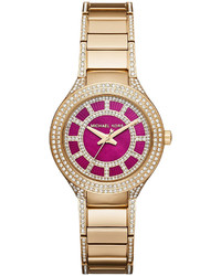 MICHAEL Michael Kors Michl Michl Kors Mini Kerry 33mm Golden Stainless Steel Watch