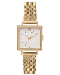 Olivia Burton Midi Square Mesh Strap Watch 225mm