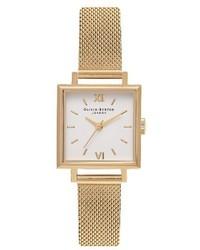 Olivia Burton Midi Square Mesh Strap Watch 225mm