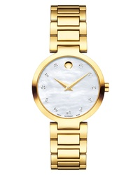 Movado Modern Classic Diamond Bracelet Watch