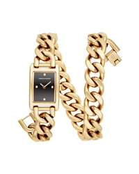 Rebecca Minkoff Mot Chain Wrap Bracelet Watch