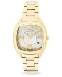Fendi Moto Mother Of Pearl Goldtone Stainless Steel Bracelet Watch