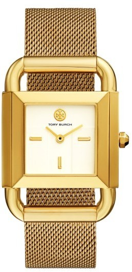 Tory Burch Phipps Mesh Strap Watch 29mm X 41mm
