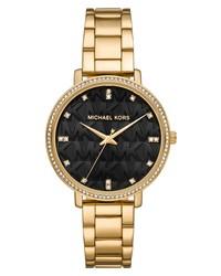 MICHAEL Michael Kors Pyper Mk Logo Dial Bracelet Watch