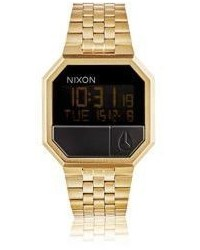 Nixon Re Run Digital Watch Gold