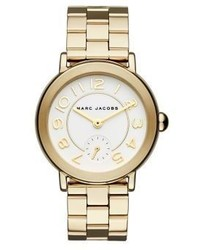 Marc Jacobs Riley Goldtone Stainless Steel Bracelet Watch