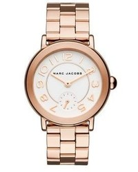 Marc Jacobs Riley Rose Goldtone Stainless Steel Bracelet Watch