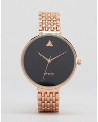 Asos Rose Gold Blackout Dial Watch