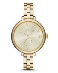 Marc by Marc Jacobs Sally Goldtone Ip Stainless Steel Bracelet Watch