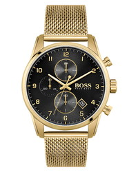 BOSS Skymaster Chronograph Mesh Watch