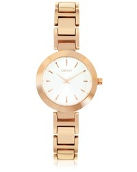 DKNY Stanhope Rose Gold Tone Stainless Steel Watch