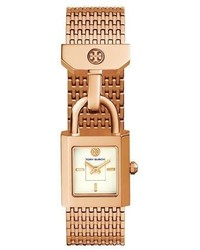 Tory Burch Surrey Padlock Multilink Bracelet Watch Rose Golden
