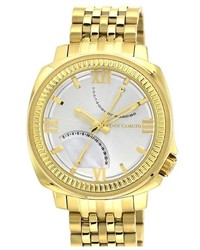 Vince Camuto Textured Bezel Bracelet Watch 44mm