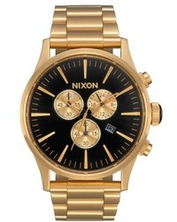 Nixon The Sentry Chronograph Bracelet Watch 42mm