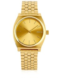 Nixon Time Teller Gold Finish Dial Watch
