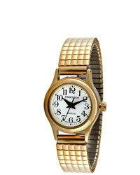 Timetech Shock Resistant Goldtone Expansion Watch