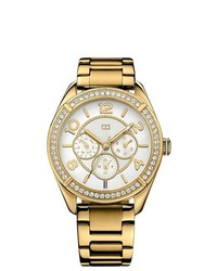 Tommy Hilfiger Gold Tone Stainless Steel Ladies Watch 1781253