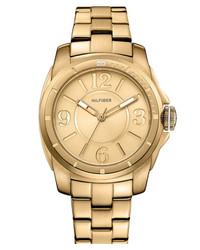 Tommy Hilfiger Round Bracelet Watch 38mm Gold