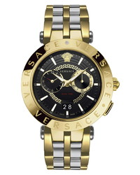 Versace V Race Dual Time Bracelet Watch