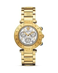 Versace Reve Chronograph Stainless Steel And Gold Pvd Watch 40mm