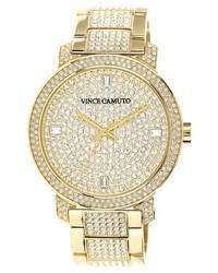 Vince Camuto Pave Bracelet Watch 42mm Gold