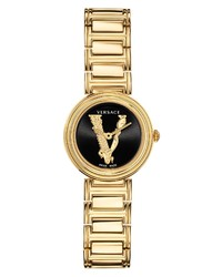 Versace Virtus Mini Bracelet Watch Leather Set