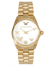 Zadig & Voltaire Gold Butterfly Bracelet Watch