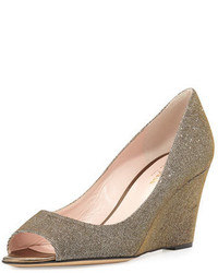 Kate Spade New York Radiant Sparkly Wedge Pump Bronze
