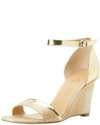 Gold wedge sandals original 9785610