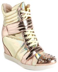Gold wedge sneakers original 11012454