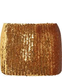 Sequined wool mini skirt gold medium 5363807